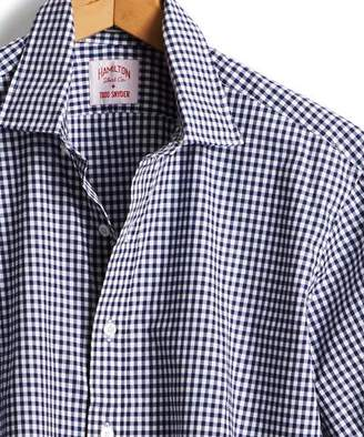 Hamilton Made in the USA + Todd Snyder Dress Shirt in Navy Gingham