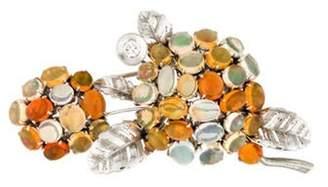 Platinum Opal Brooch orange Platinum Opal Brooch