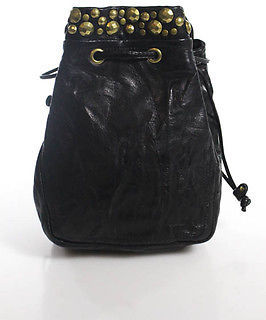 Kooba Black Leather Stud Detail Crossbody Handbag Size Small $39 thestylecure.com