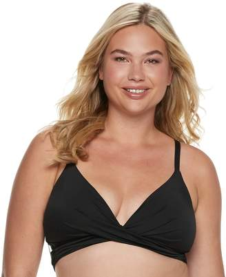 e3ad3181a Apt. 9 Plus Size Push-Up Bralette Swim Top