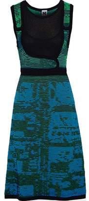 M Missoni Mesh-Paneled Crochet-Knit Cotton-Blend Dress