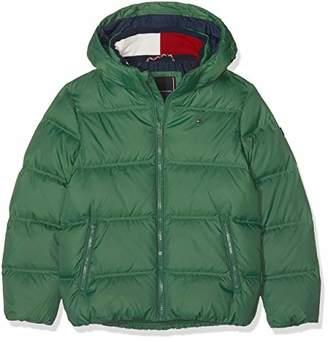 Tommy Hilfiger Boy's Essential Basic Down Jacket (Hunter Green 395), (Size: 16)