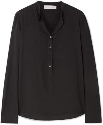 Stella McCartney Eva Silk Crepe De Chine Blouse - Black