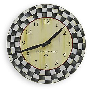 Mackenzie Childs MacKenzie-Childs Courtly Check Clock
