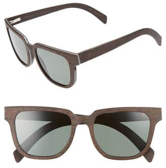 Shwood Prescott 52mm Polarized Walnut Wood Sunglasses
