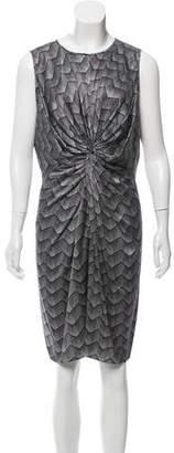 Armani Collezioni Silk Knee-Length Dress
