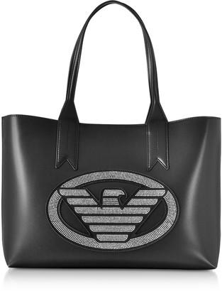 3cb4f970fd49 Emporio Armani Signature Medium Tote Bag