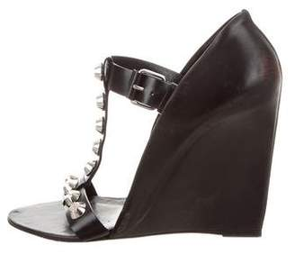 Balenciaga Studded Leather Wedges