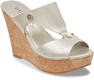 GUESS Sheley Wedge Sandal - Women's