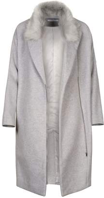 Paisie Wool Blend Coat With Faux Fur Collar