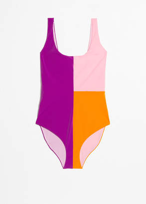 And other stories Colour Block Swimsuit