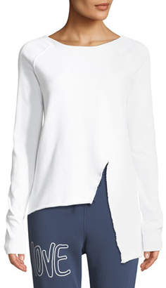 Frank And Eileen Asymmetric Cotton Sweatshirt, White