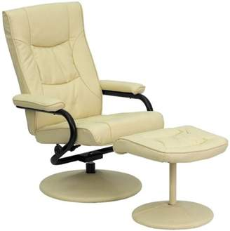 Office Furniture in a Flash Flash Furniture Contemporary Leather Recliner and Ottoman, Multiple Colors