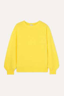 Dries Van Noten Tasche Knitted Sweater - Yellow