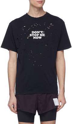Satisfy 'Don't Stop Me Now' slogan print T-shirt