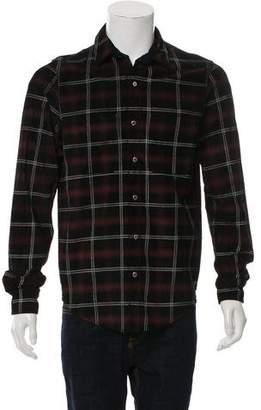 Amiri Plaid Leather Shirt
