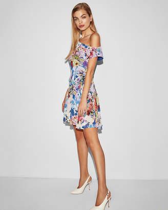 Express Floral Asymmetrical Slip Dress