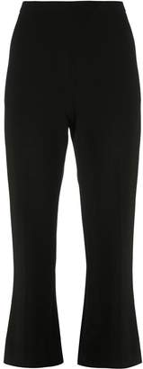 Christian Siriano cropped flare trousers