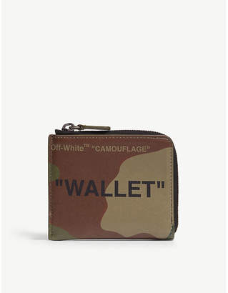 Off-White Camouflage leather wallet