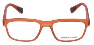Prada Sport Rubberized Square Eyeglasses