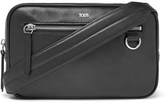 Tod's Leather Messenger Bag - Black