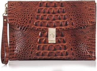 Brahmin Ruth Croc Embossed Leather Clutch