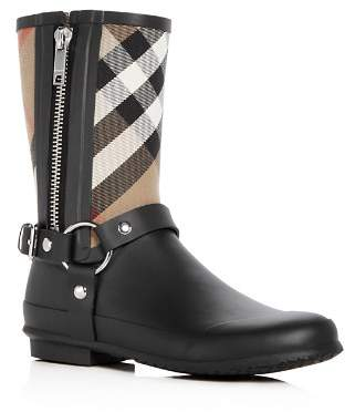 Burberry Women's Zane Signature Check Rain Boots