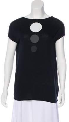 Tomas Maier Cap Sleeve Graphic Top