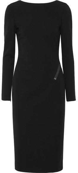TOM FORD - Zip-detailed Stretch-crepe Midi Dress - Black