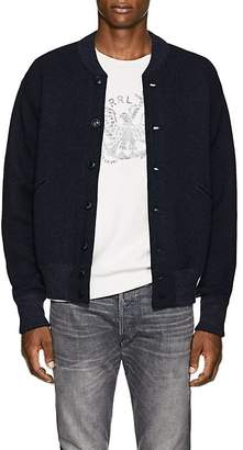 RRL Men's Knit Cotton-Wool Baseball Jacket