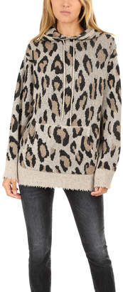R 13 Cashmere Leopard Hoody
