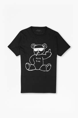 French Connection Rude Bear Graphic T-Shirt
