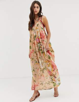 Aratta maxi cami dress with oversized floral