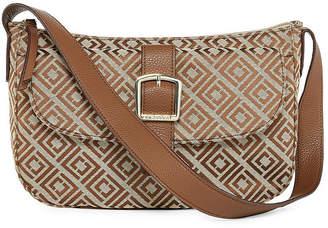 Liz Claiborne Penny Top Zip Shoulder Bag