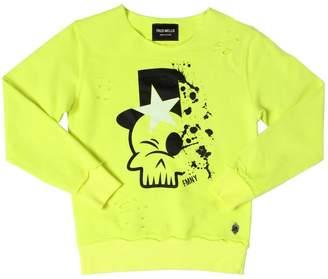 Fred Mello Skull Printed Cotton Sweatshirt