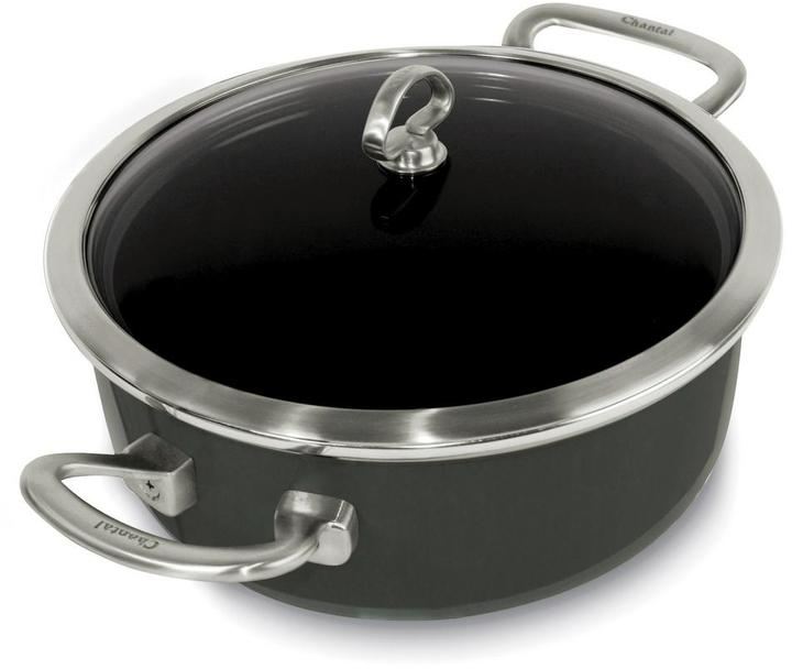 Chantal Chantal Copper Fusion 4 Qt. Risotto Pan with Glass Lid in Onyx