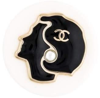 Chanel Faux Pearl Brooch