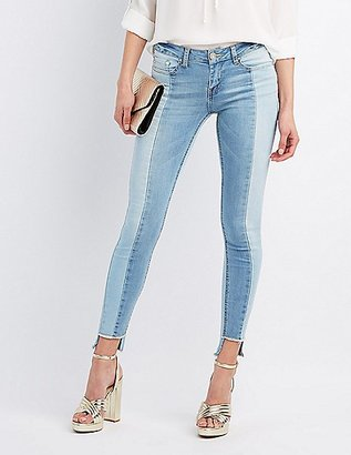 Two-Tone Skinny Jeans $28.99 thestylecure.com