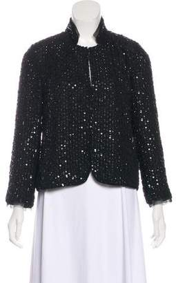 Velvet Sequin Structured Jacket w/ Tags