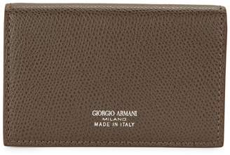 Giorgio Armani Snap-Flap Leather Cardholder