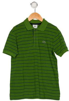 Lacoste Boys' Stripe Collared Shirt w/ Tags