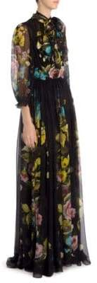 Dolce & Gabbana Georgette Floral-Print Gown