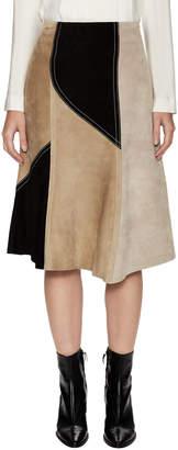 Derek Lam Women's Abstract Colorblocked Midi Skirt