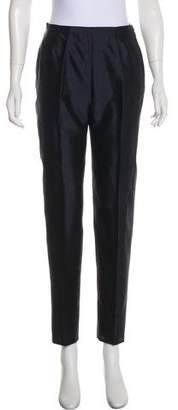 Max Mara Silk High-Rise Pants