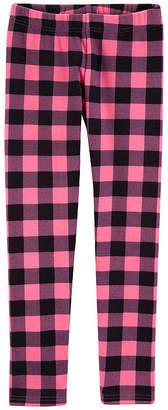 Carter's Plaid Fleece Elastane Leggings - Preschool Girls