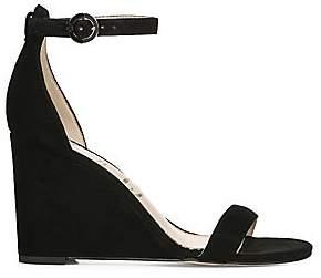 30f22b41af88 Sam Edelman Women s Neesa Suede Ankle-Strap Wedge Heels