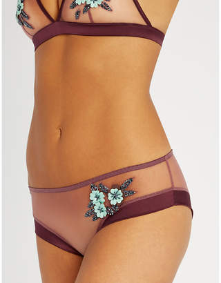 d73d2645e9 Myla Lavender Fields mid-rise tulle and satin briefs