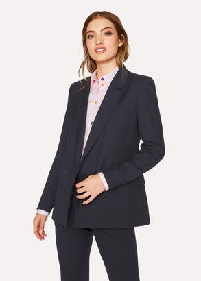 Paul Smith A Suit To Travel In - Women's Dark Navy Wool Double-Breasted Blazer