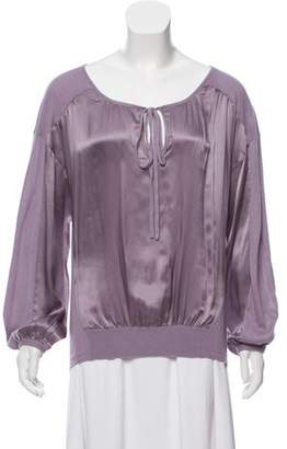 Magaschoni Silk Blend Knit Blouse