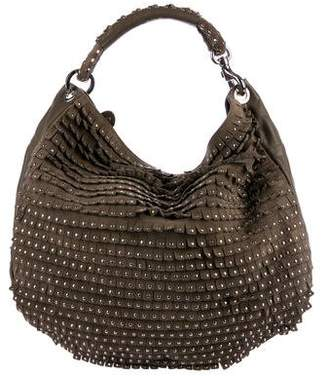 Jimmy Choo Sky Studded Fringe Hobo